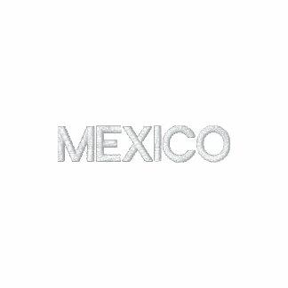 MÉXICO bordó sudadera con capucha patriótica