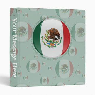 Mexico Bubble Flag Binder