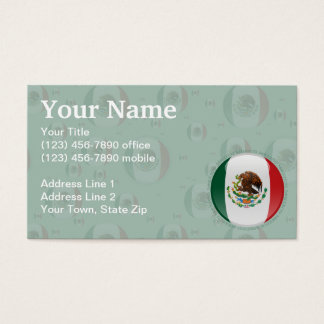 Mexico Bubble Flag Business Card