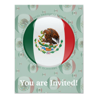 Mexico Bubble Flag Card