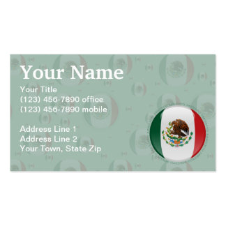 Mexico Bubble Flag Double-Sided Standard Business Cards (Pack Of 100)