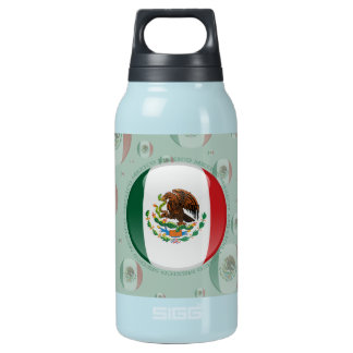 Mexico Bubble Flag Insulated Water Bottle