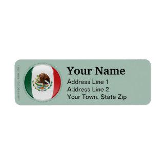Mexico Bubble Flag Label