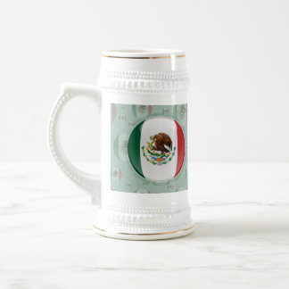 Mexico Bubble Flag Coffee Mugs
