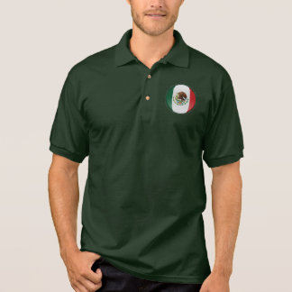 Mexico Bubble Flag Polo Shirt