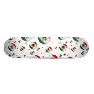 Mexico Bubble Flag Skate Board Deck