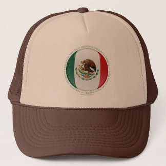 Mexico Bubble Flag Trucker Hat