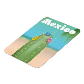 Mexico Cactus travel poster Magnet