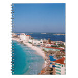 Mexico, Cancun, Aerial View Of Hotels Notebook