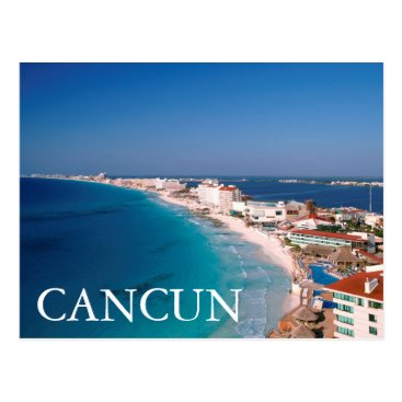 LatinContent Mexico, Cancun, Aerial View Of Hotels Postcard