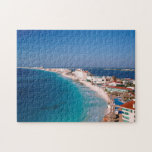 Mexico, Cancun, Aerial View Of Hotels Puzzle