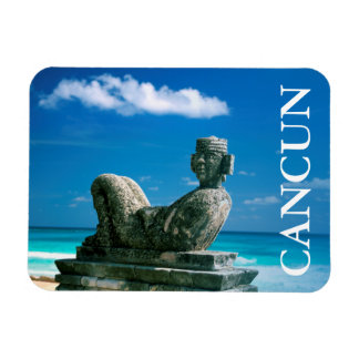 Mexico, Cancun Beach, Chac Mool Magnet