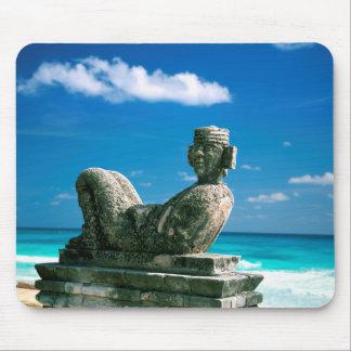 Mexico, Cancun Beach, Chac Mool Mouse Pad