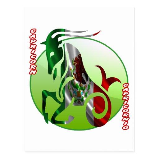MEXICO CAPRICORN HOROSCOPES PRODUCTS POST CARD