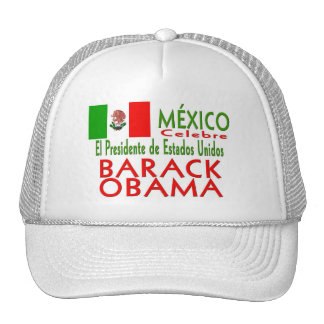 MÉXICO celebra a presidente Obama Victory de los E Gorras De Camionero