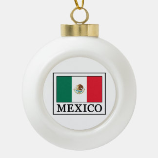 Mexico Ceramic Ball Christmas Ornament