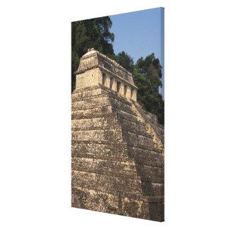 Mexico, Chiapas province, Palenque. Temple of 2 Canvas Print