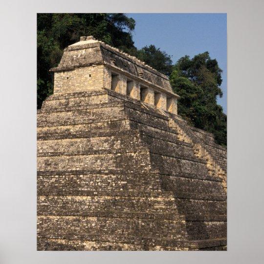 Mexico, Chiapas province, Palenque. Temple of 2 Poster