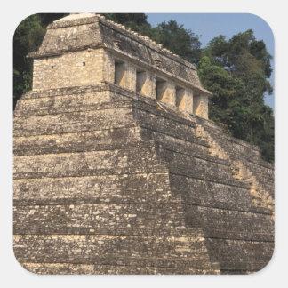 Mexico, Chiapas province, Palenque. Temple of 2 Square Sticker