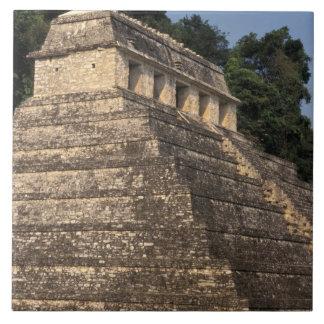 Mexico, Chiapas province, Palenque. Temple of 2 Large Square Tile