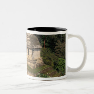 Mexico, Chiapas province,  Palenque, Temple of Two-Tone Coffee Mug
