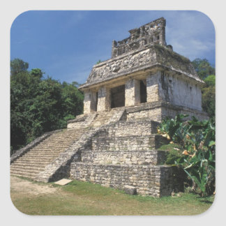 Mexico, Chiapas province, Palenque. Temple of Square Sticker
