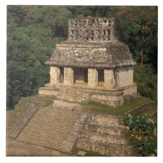 Mexico, Chiapas province,  Palenque, Temple of Large Square Tile