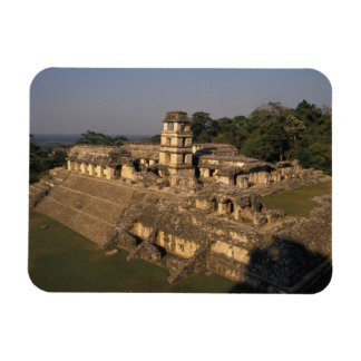 Mexico, Chiapas province,  Palenque, The Palace Rectangular Magnet