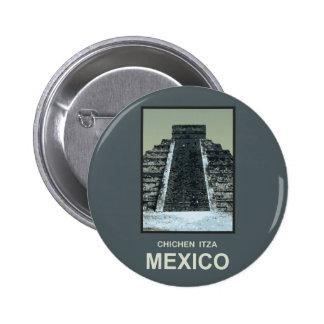 Mexico Chichen Itza Buttons