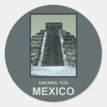 México Chichen Itza Etiquetas Redondas