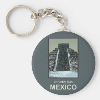 México Chichen Itza Llavero Redondo Tipo Pin
