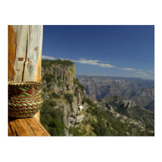 Mexico, Chihuahua, Copper Canyon. View from Postcard