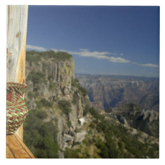 Mexico, Chihuahua, Copper Canyon. View from Ceramic Tiles