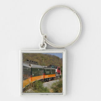 Mexico, Chihuahua, Copper Canyon. Views from Silver-Colored Square Keychain
