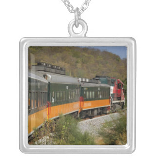 Mexico, Chihuahua, Copper Canyon. Views from Square Pendant Necklace
