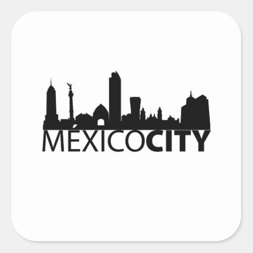 Mexico City Calcomanía Cuadradas Personalizadas