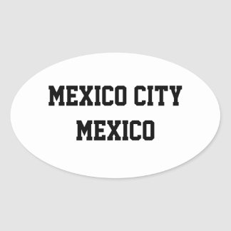 Mexico City oval stickers