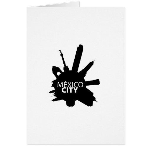 Mexico City Rounded Tarjeton