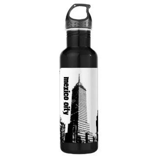 Mexico City Seguros Latinos building bottle 24oz Water Bottle