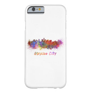 Mexico City skyline in watercolor Barely There iPhone 6 Case