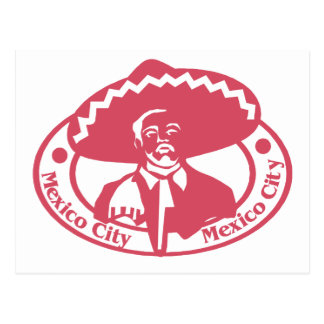 Mexico City Stamp Postcard
