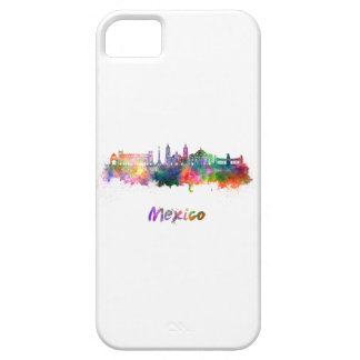 Mexico City V2 skyline in watercolor iPhone SE/5/5s Case
