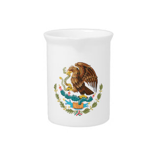 Mexico Coat Of Arms Beverage Pitcher