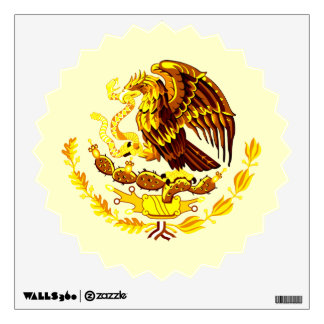 Mexico Coat of Arms Brown Tones Wall Decal