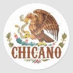 Mexico Coat of Arms Chicano Classic Round Sticker