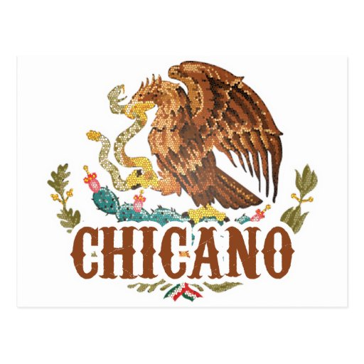 Mexico Coat of Arms Chicano Post Card