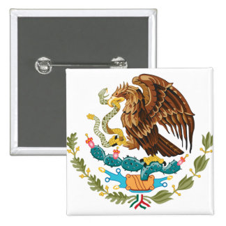 Mexico Coat of Arms detail Button