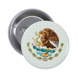 Mexico Coat of Arms detail Pinback Button