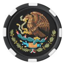 Mexico Coat of Arms Eagle Snake and Cactus Poker Chips