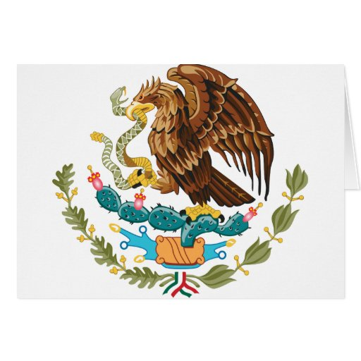 Mexico coat of arms greeting card